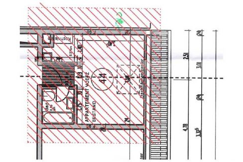 Plan mit Abmessungen: Appartement im Zooviertel