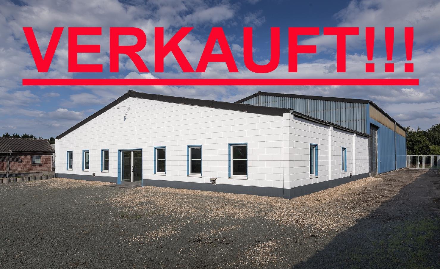 Gewerbearreal 4025m² in Straelen, bebaut mit Halle und Büros u. Platz für ein Einfamilienhaus